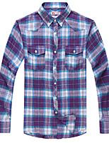 Men's Cotton Casual Long Sleeve Plaid Shirts