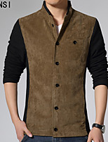 The fall of men's jacket slim Kuanqiu thin wool tweed coat collar jacket with Korean tide