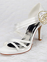 Women's Shoes Satin Stiletto Heel Heels / Peep Toe / Platform Sandals Wedding / Office & Career / Party & Evening /Dress