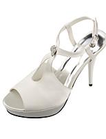 Women's Shoes Satin Cone Heel Heels / Peep Toe / Platform Sandals Wedding / Office & Career / Party & Evening / Dress