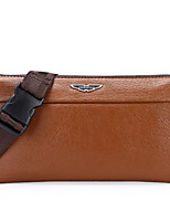 Men Cowhide Baguette Clutch / Wallet - Brown / Black / Khaki