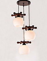 European Mediterranean Ship rudder Glass Dining Pendant Simple Modern Solid Wood lamps