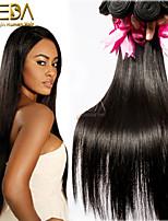 3pcs/Lot Unprocessed Virgin Peruvian Hair Silk Straight Human Hair Extensions Natural Black 8''-30'' Hair Weaves