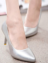 Women's Shoes Pure Color Sweet OL Style Stiletto Heel Heels / Pointed Toe Heels Office & Career / Dress Silver / Gold
