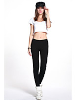Women's Black Pants BOSS Printed Cotton Gym Fitness Legging Slim Thin Low Waist Sports Leggings