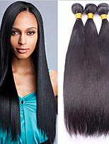 brésiliens vierges cheveux raides 3 faisceaux lot non transformés cheveux vierge brésilienne vierge faisceaux de cheveux raides