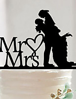 Acrylic Mr & Mrs Cake Topper Non-personalized Acrylic Wedding / Anniversary / Bridal Shower  16.2*14.3*0.27
