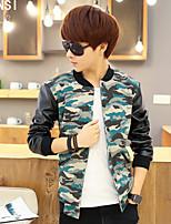 2015 autumn youth men jacket mens jacket Korean slim Camo Baseball Jacket sweater tide