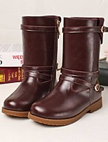 Girls' Shoes Wedding /Dress Western Boots Fashion Boots Comfort  Round Toe Leather Mid-Calf Boots More Colors Available