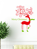 Wall Stickers Wall Decals Style New Christmas Deer PVC Wall Stickers