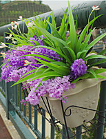 Orchid Grass Simulation Flower Decoration Grass Plastic Plants Artificial Flowers