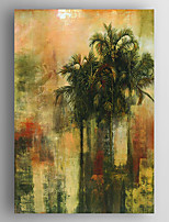 Oil Painting  Med Landscape Trees  Hand Painted Canvas with Stretched Framed Ready to Hang