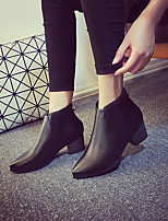 Women's Shoes Low Heel Fashion Boots Boots Casual Black / Gray