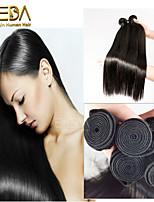 3pcs / lot brasileños extensiones humanas rectas de seda virginal del pelo de cabello natural negro 8 '' - 30 '' tejidos de pelo