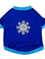 Dog T-Shirt / T-Shirt Single color/ Spring And Fall  Floral Floral / Snowflake  Christmas