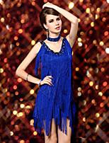 Latin Dance Dresses Women's Performance Cotton / Nylon / Spandex / Polyester Tassel(s) 2 Pieces 3 Colors