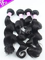 peruano 4pcs cabello virgen / lot onda floja extensión del pelo peruano color 1b humana
