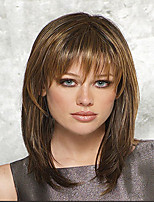 Capless High Quality Pretty Medium Straight Mix Color Hair Wig