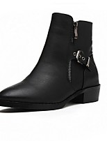 Women's Shoes  Chunky Heel Combat Boots / Round Toe Boots Outdoor / Dress / Casual Black / Brown