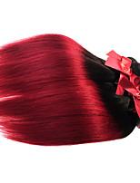 Brazilian Virgin Ombre Silky Straight Hair Weaves 1pcs Two Tone T1B/BG Human Hair Extensions Wefts 50g/pcs