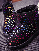 Women's Shoes Low Heel Round Toe Boots Casual Black / Blue / Brown / Red