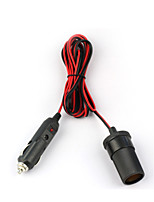 DearRoad 2M Car Cigarette Cigar Lighter DC 12V/24V Extension Cable Adapter Socket Charger
