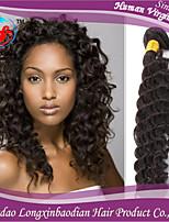trois faisceaux 100% remy vierge briazilian humanVente en gros 6a crépus couleur naturelle des cheveux bouclés trame