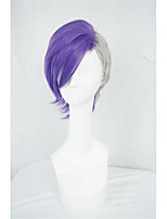 LanTing Cos Tokyo Ghoul Purple Mix Grey Short Cosplay Wig Party Anime Hair
