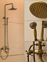 Shower Faucet Traditional Rain Shower / Handshower Included Brass Antique Brass