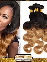 3Pcs/Lot 1B/27 Virgin Human Hair Weaves Body Wave Hair Weft Brazilian Hair Bundles Ombre Brazilian Human Hair Weaves