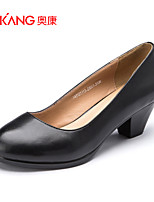 Women's Shoes Leatherette Chunky Heel Heels Heels Office & Career / Party & Evening / Casual Black / Brown / Yellow