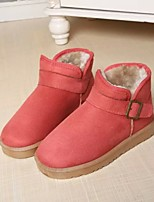 Women's Shoes Low Heel Round Toe Boots Casual Pink / Coral