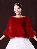 Wedding / Party/Evening Faux Fur Capelets 3/4-Length Sleeve Hoods & Ponchos