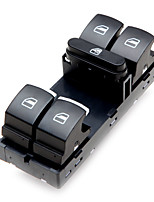 Chrome Driver Side Master Window Switch For VW Golf Jetta MK5 MK6 Passat B6