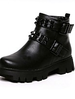 Women's Shoes  Platform Combat Boots / Round Toe Boots Outdoor / Casual Black