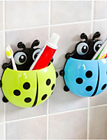 Creative Lady Beetle Toothbrush Shelf