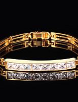InStyle Cool Zircon Women 18K Chunky Gold Plated bracelet bangle unisex