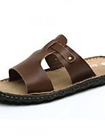 Zapatos de Hombre-Pantuflas-Exterior / Oficina y Trabajo / Vestido / Casual / Deporte / Laboral-Cuero de Napa-Marrón