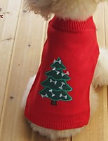 FUN OF PETS® Christmas Tree Snowman Pumpkin Pattern Sweather Pets Christmas Clothes for Pets Puppy Dogs