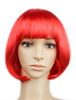 Sweet Girl Bob Synthetic Fiber Women's Halloween Party Wig Red Color