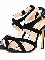 Women's Shoes Fabric Stiletto Heel Heels / Open Toe Sandals Party/More Colors