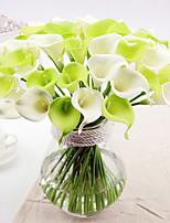 Silk / Plastic Calla Lily Artificial Flowers 6pcs/set