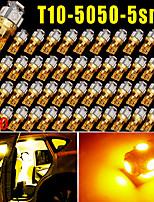 50x ambra t10 giallo 5SMD 5050 ha condotto auto cupola licenza mappa luce W5W 168 192 194