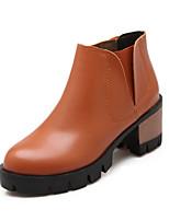 Zapatos de mujer - Tacón Bajo - Botas a la Moda - Botas - Exterior / Vestido / Casual - Semicuero - Negro / Amarillo / Beige