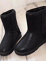 Women's Shoes Low Heel Round Toe Boots Casual Black / Silver / Multi-color