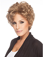 Capless Blonde Color Short Wig  High Quality Natural curly Hair Synthetic Wig cosplay