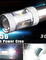 1pcs 30w LED blanco 1156 BA15S 1141 7506 rv respaldo remolque caravana luz revertir