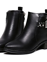 Women's Shoes Chunky Heel Combat Boots Boots Outdoor / Casual Black / Silver
