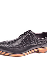 Men's Shoes Office & Career / Party & Evening / Casual Leather Oxfords Black / Burgundy