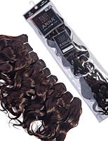 brasiliani capelli ricci sciolti tesse # 2 estensioni dei capelli umani marrone scuro Set 3pcs 8